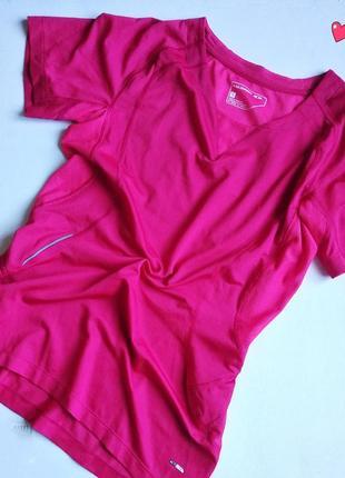 Яркая функциональная футболка salomon, одежда для фитнеса