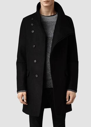 Асимметричное шерстяное пальто allsaints all saints rick owens