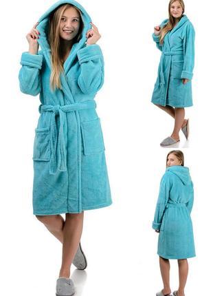 Домашний,мягкий,теплый,махровый женский короткий халат.