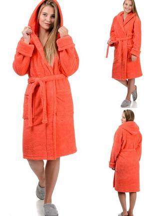 Мягкий,домашний,короткий женский,махровый халат,банный,уютный