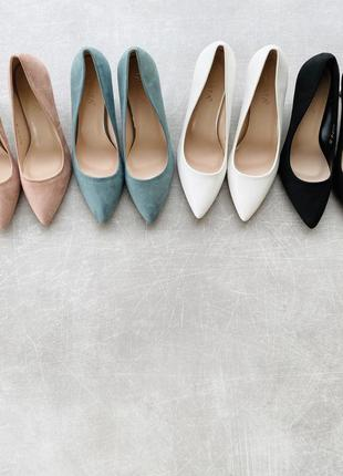 Туфли лодочки 4 цвета каблук 6 см/наложка 100