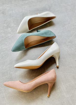 Удобные и красивые лодочки туфли каблук 6 см/наложка 100