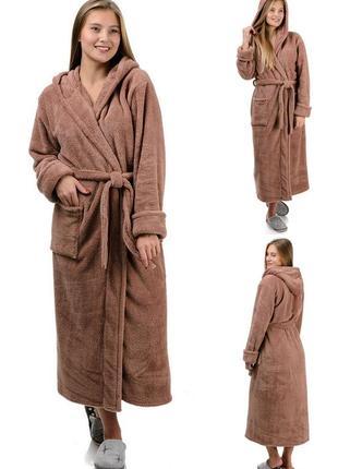 Домашний,теплый,зимний,махровый,банный женский халат