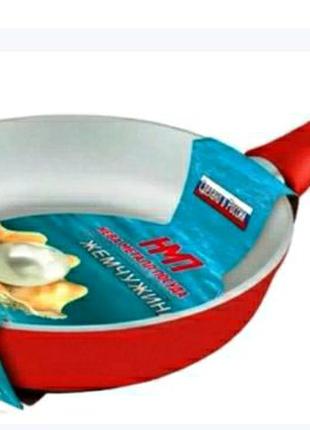 Сковорода Жемчужина износостойкое покрытие литой корпус диам 22см