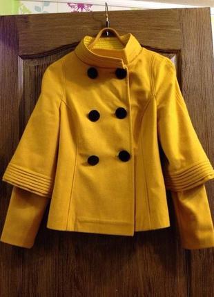 Пальто куртка пиджак съёмные рукава пуговицы воротник стойка