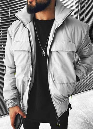 Куртка мужская турция серая / курточка чоловіча ветровка вітровка