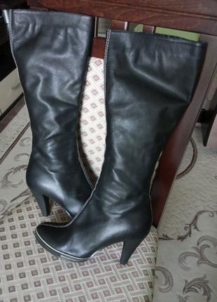 Сапожки кожаные 39,5 размер
