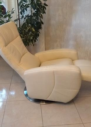 Кресло кожаное реклайнер новое, шкіряне крісло відпочинкове нове