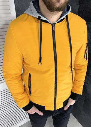 Куртка мужская двухстороняя турция желтая / курточка чоловіча ...