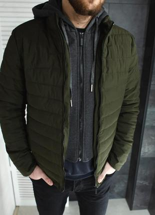 Куртка мужская стеганая зеленая / курточка чоловіча стьобана...