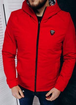 Куртка мужская двухстороняя турция красная / курточка чоловіча...