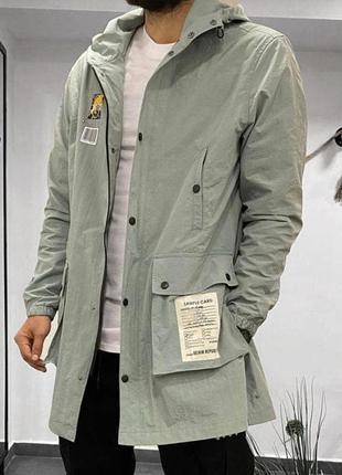 Куртка ветровка мужская с принтом фисташка / курточка вітровка...