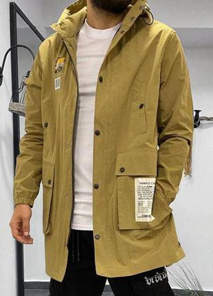 Куртка ветровка мужская с принтом бежевая / курточка вітровка ...