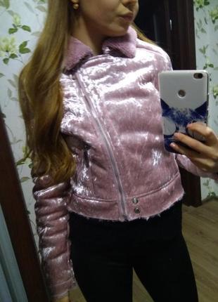Куртка курточка аля дубленка состояние новой