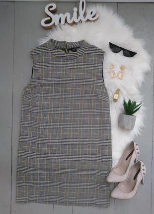 Актуальное платье туника в клетку №15max