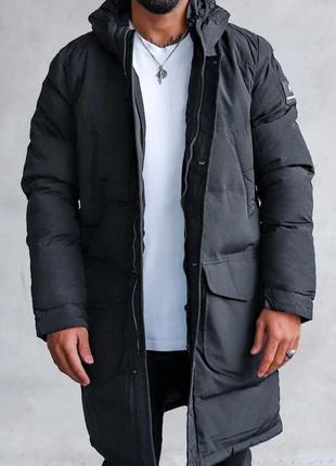 Парка куртка мужская стеганая еврозима черная / курточка чолов...