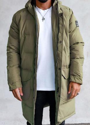 Парка куртка мужская стеганая еврозима хаки / курточка чоловіч...