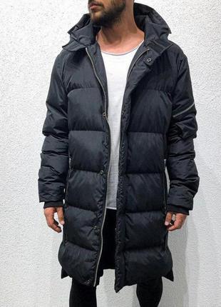Куртка парка мужская стеганая еврозима черная / курточка євроз...