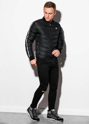 Демисезонная дутая куртка бомбер ombre, польша