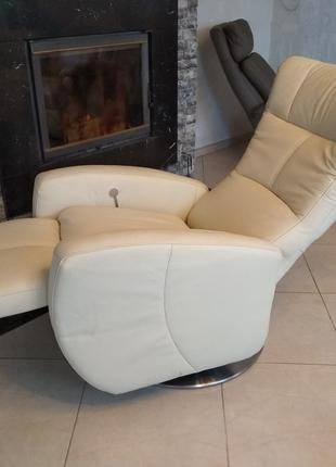 Новое кресло реклайнер из кожи, релакс крісло шкіряне для відпочи