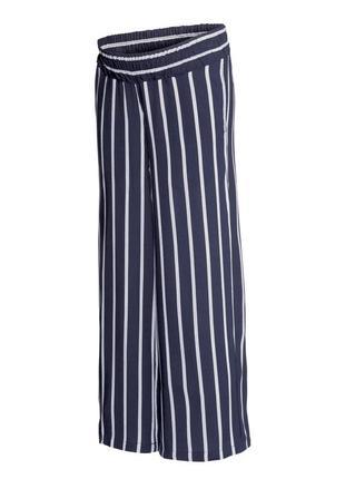 Н&м полосатые брюки кюлоты бриджи штаны р. 44 (50-52), (16) ви...