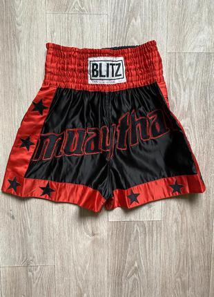 Blitz шорты для бокса тайского муа тай s размер