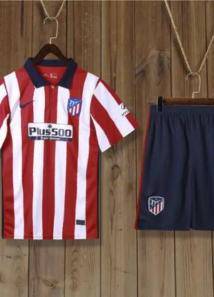 Детская Футбольная Форма Атлетико Мадрид 2020-2021 Домашняя