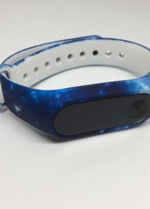 Ремешок для ми бенд 2 mi band 2 синий космос 🚀
