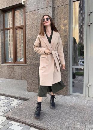 Базовое осеннее женское пальто