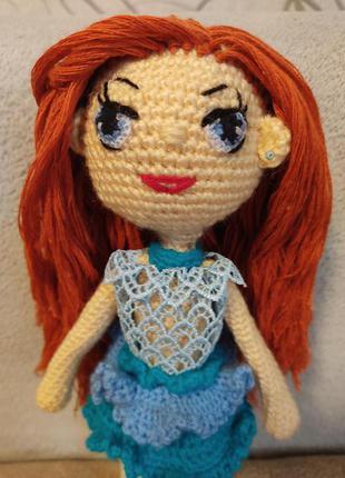 кукла вязаная модница