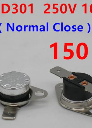 Термостат KSD301-150 NC 10A 250V нормально замкнутый - биметаллич