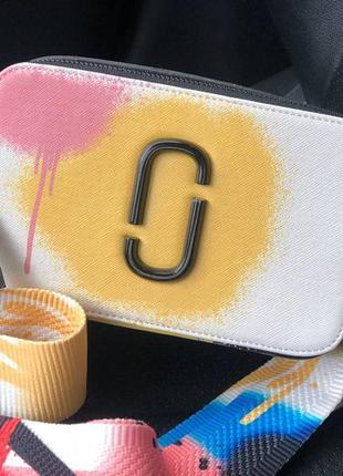 Женская сумка в стиле marc jacobs 🔥белая + разноцветная