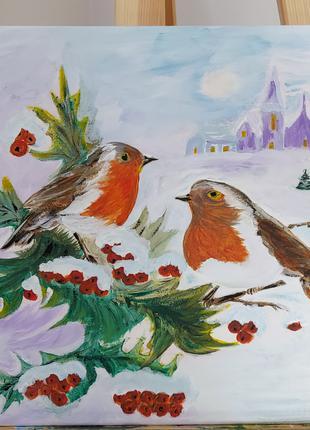 Картина «Снегири»