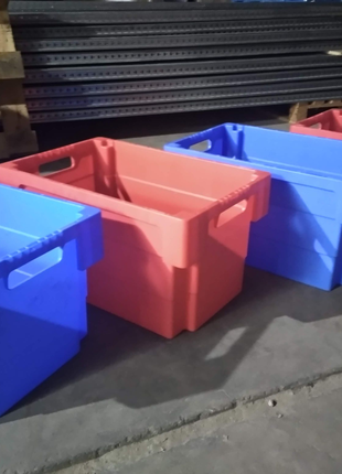 Ящики пластиковые,ящики с крышкой,ящики б.у