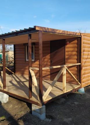 Дачный домик 25 квадратов с террасой