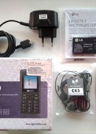 Рабочий Мобильный телефон LG KG270, ЭЛ ДЖИ KG270