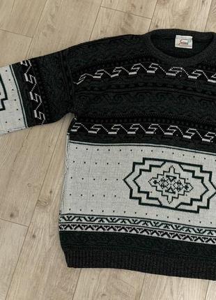 Стильный тёплый вязанный мужской свитер размер 2 хл+