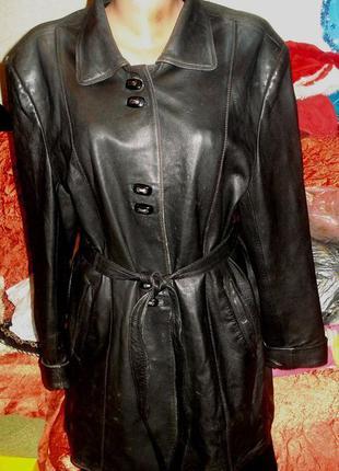 Куртка кожаная, под пояс