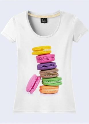 """Женская футболка с принтом """"макарон. макаруны"""" push it"""