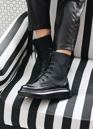 Женские Кроссовки Alexander McQueen Sneakers High White(36-40р)