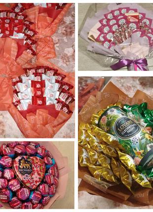 Сьедобный букет, вкусный букет, букет из конфет
