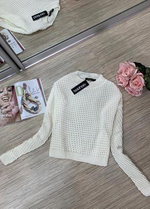 Укороченный свитер от boohoo