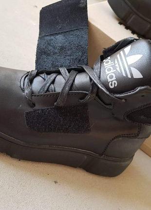 Ботинки кожа adidas шнурок+липучка !!!последняя пара!!!