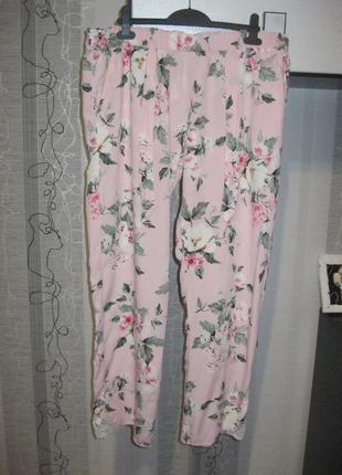 Пижама пижамные штаны брюки в пижамном бельевом стиле 14-16 хл...