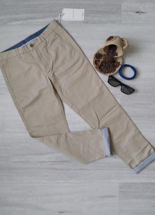 Мужские стильные брюки jack & jones штаны чинос slim fit