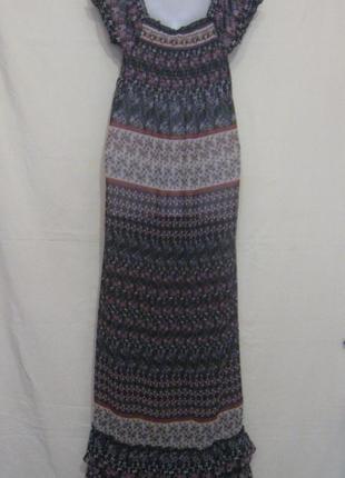 Платье с рюшами макси в пол, летнее, лёгкое, суперское.38р