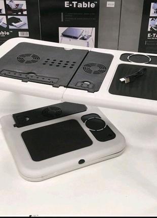 Портативный столик для ноутбука с охлаждением 2 USB кулерами E-Ta