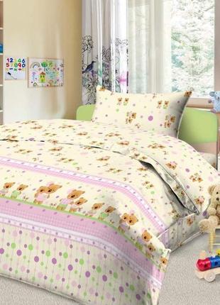 Детское постельное белье мишки и зайчики