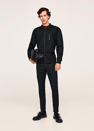 Черная куртка бомбер ZARA MAN !
