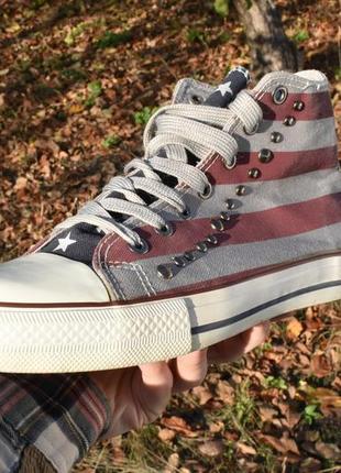 Унисекс кеды в американскую символику серые размер 38 на осень